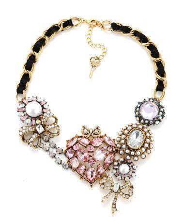 Betsey Johnson Pave Heart Necklace $165 <3