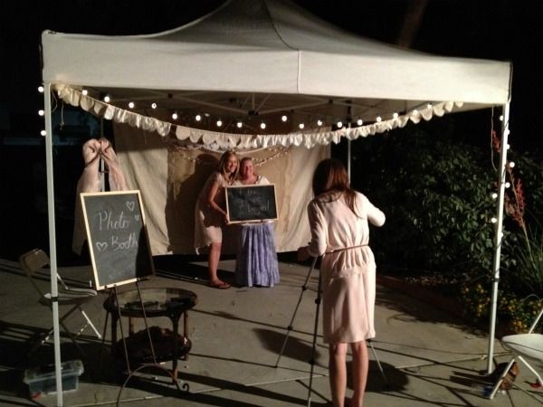 Ideas For Wedding Photo Booth: DIY Wedding Ceremony Backdrop