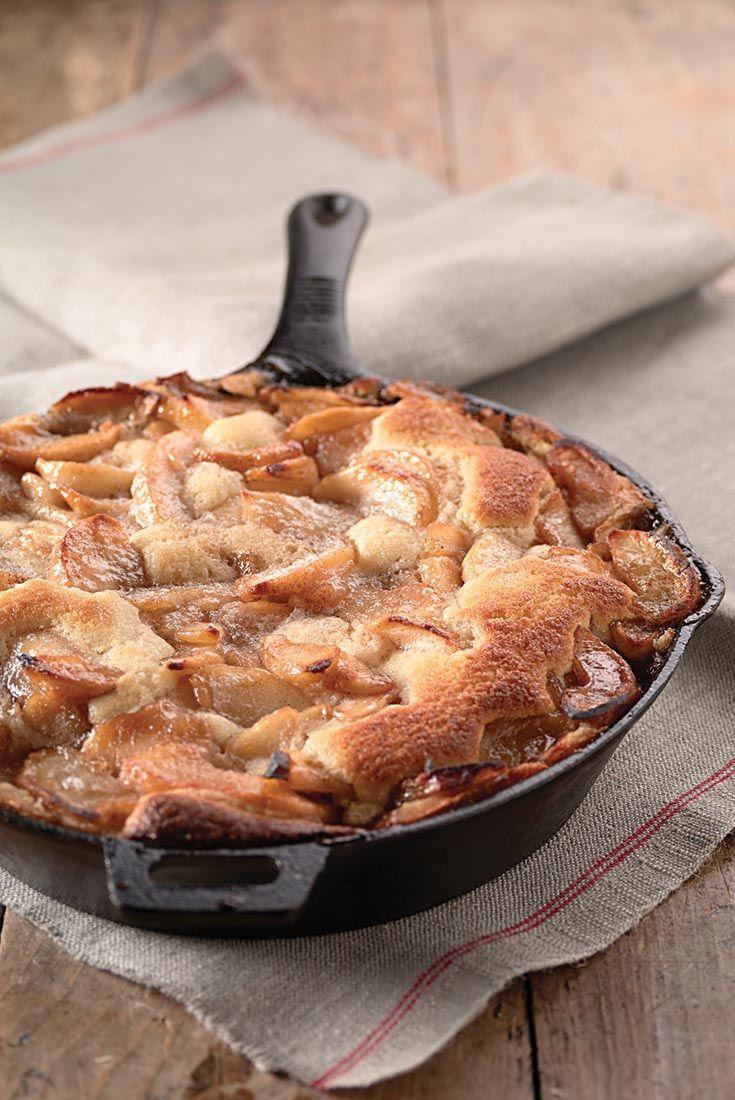 Apple Skillet Cake   Recipe with boiled cider.