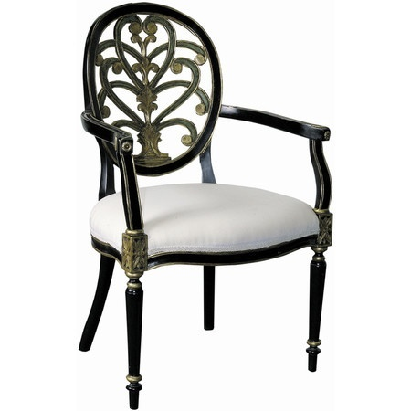 Mahogany Accent Chair With A Carved Back Jewel Toned Accents And Raw Silk Upholstery Product ChairConstruction Material