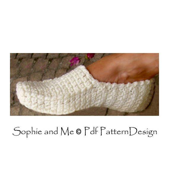 Winter Loafer Crochet Pattern Slippers Instant Download | ZAPATILLAS ...