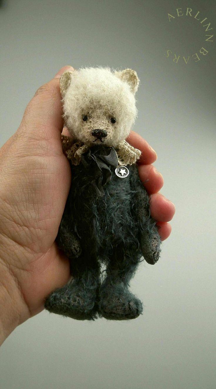 Sally Miniature Mohair Artist Bear from Aerlinn door aerlinnbears, $240,00