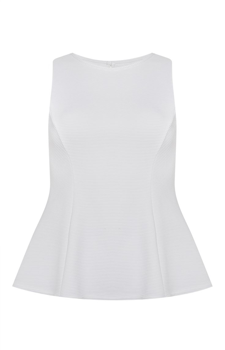 Primark - White Sleeveless Peplum