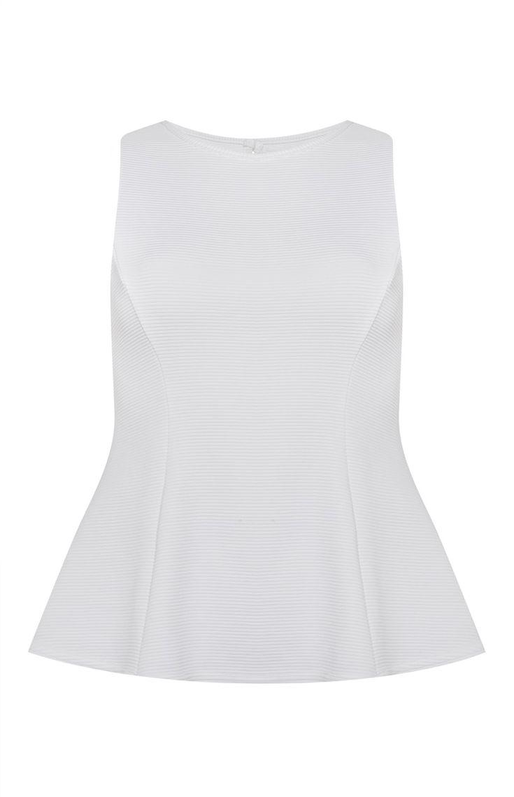 Primark - White Sleeveless Peplum