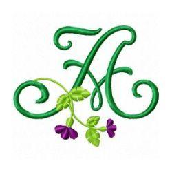 Free Embroidery Design Monogram 69-A | Gosia Design