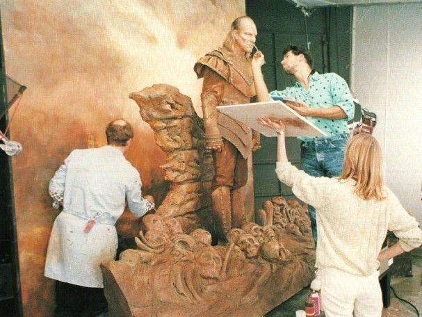 Working on the Vigo painting set behind the scenes on #Ghostbusters 2 (1989).