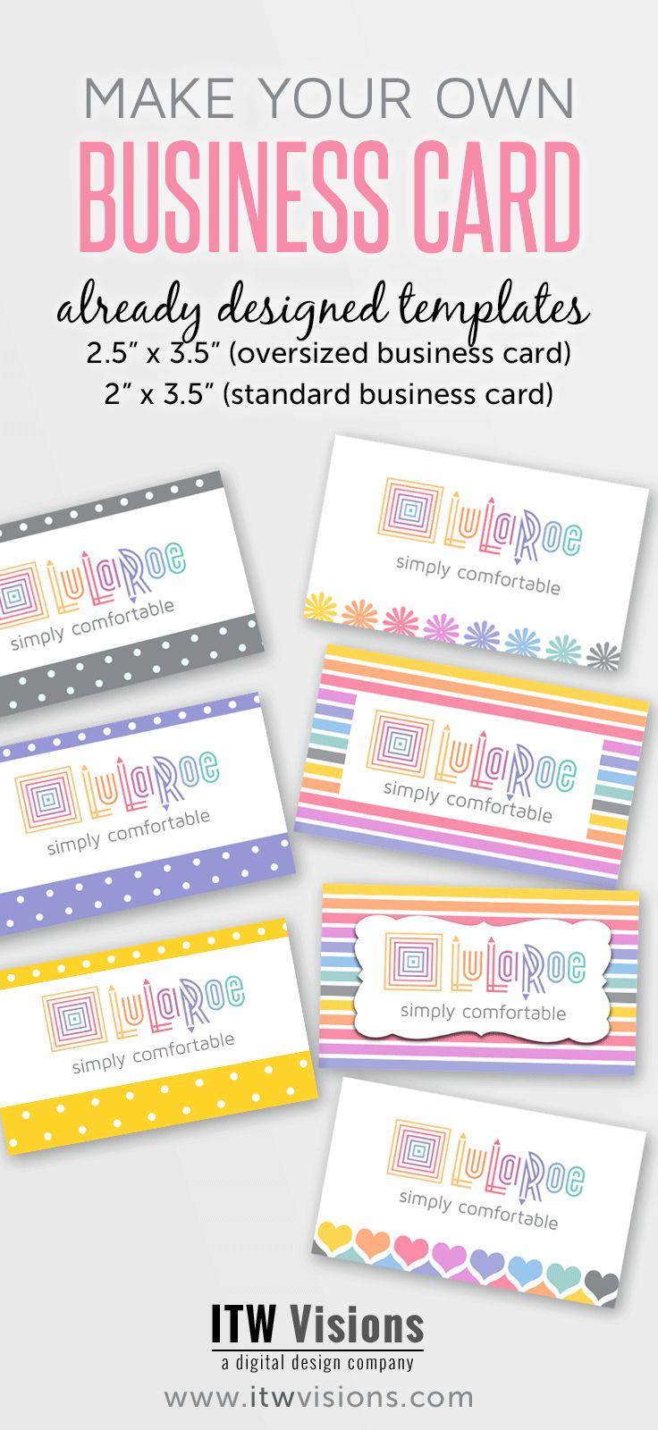 lularoe size card, lularoe business card ideas, LuLaRoe fashion consultant…