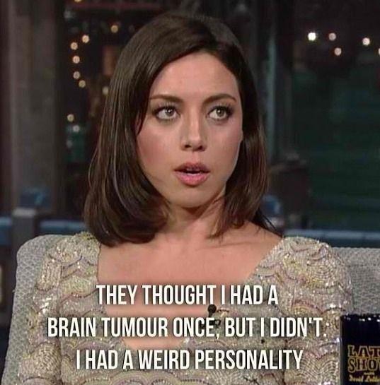 Aubrey Plaza...definitely my celebrity kindred spirit:D