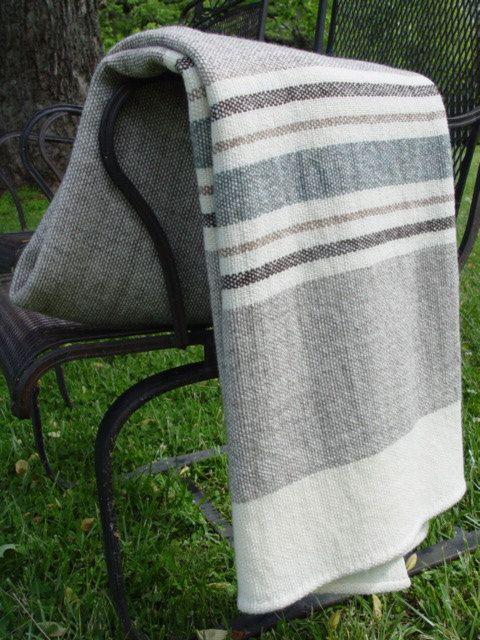 Merino Wool Blanket Hand Woven by Dianne Nordt, $195.00