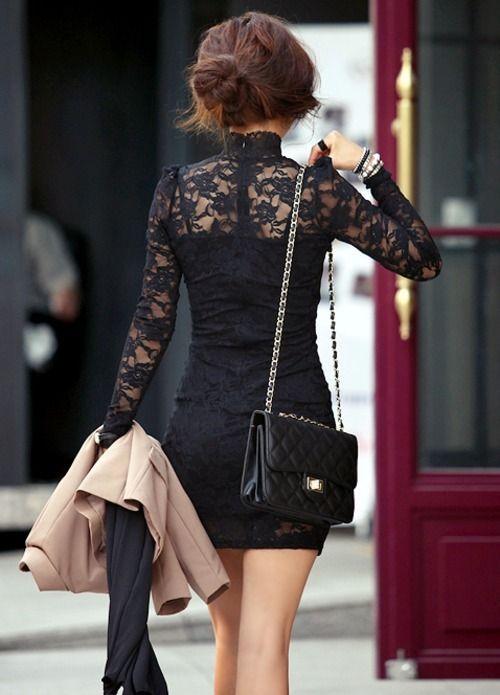 Lace little-black-dress