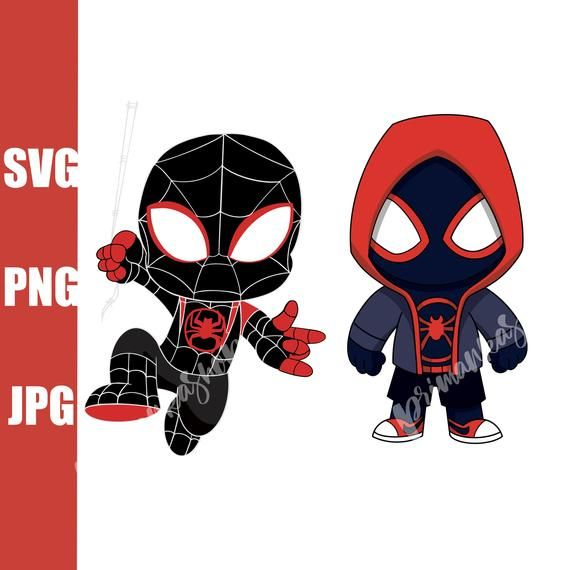 Svg Spider Man Miles Morales Into Spider Verse Characters Etsy Spiderman Illustrations Kids Kids Clipart