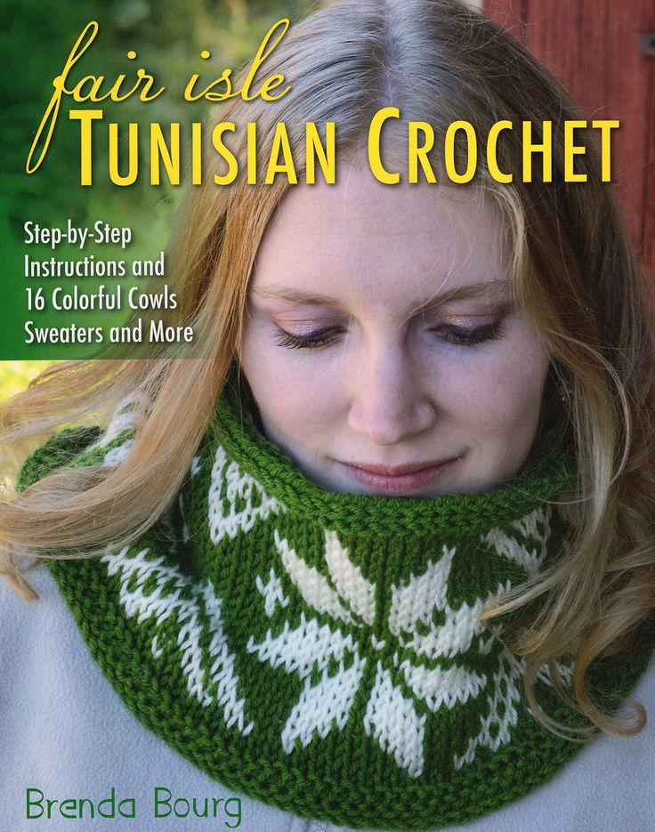 Intimidated by knitting with all the colors needed to create a beautiful Fair Isle pattern? Now you can get the look of colorwork knitting with the ease of Tunisian crochet! - Photo-illustrated instru