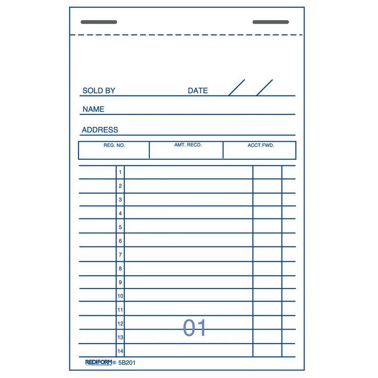Více než 25 nejlepších nápadů na Pinterestu na téma Carbon copy - printable receipt book