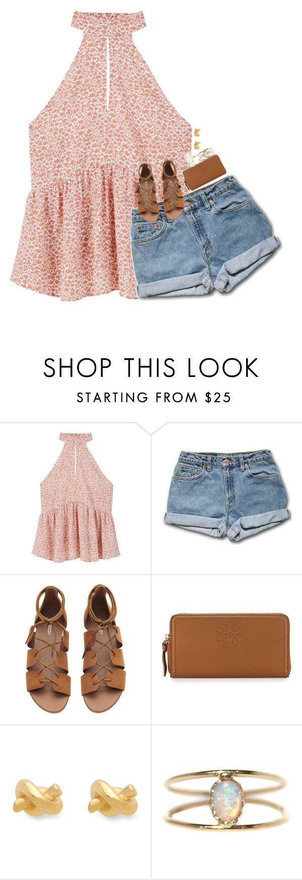 """""""can't stop thinking about him"""" by hmcdaniel01 ❤ liked on Polyvore featuring MANGO, Tory Burch, Kate Spade, LUMO and Kendra Scott"""