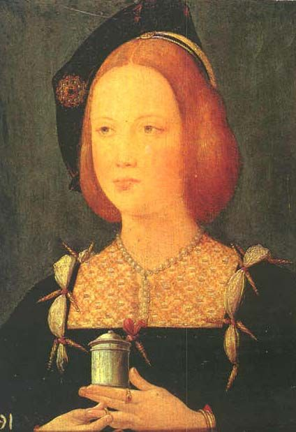 Princess Mary Tudor, who was born on the 18th March 1496, the youngest daughter of Henry VII and Elizabeth of York, who inherited her father's auburn colouring and the delicate loveliness of her mother and fabled grandmother, that astonishing and radiant beauty, Elizabeth Woodville. She raised quite a ruckus.