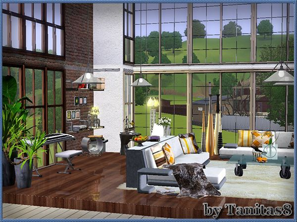 My sims 3 blog loft apartment by tanitas8 the sims for Apartment design sims 3