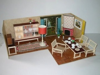 The 39 best images about Vintage dollhouse on Pinterest | Shelving ...