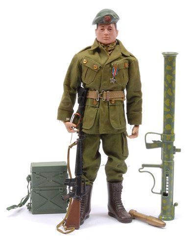 Vintage Action Man Painted Head American Green Beret  Tuesday 24th May 2016 10:00am  Lot 3065  Vintage Action Man Painted Head American Green Beret with hard to find Silver Star Medal. Overall condition is Excellent.  Estimate: £100 - £120