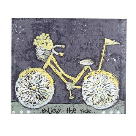 12w X 10h Canvas Enjoy The Ride Wall D Cor Wholesale Home Decor