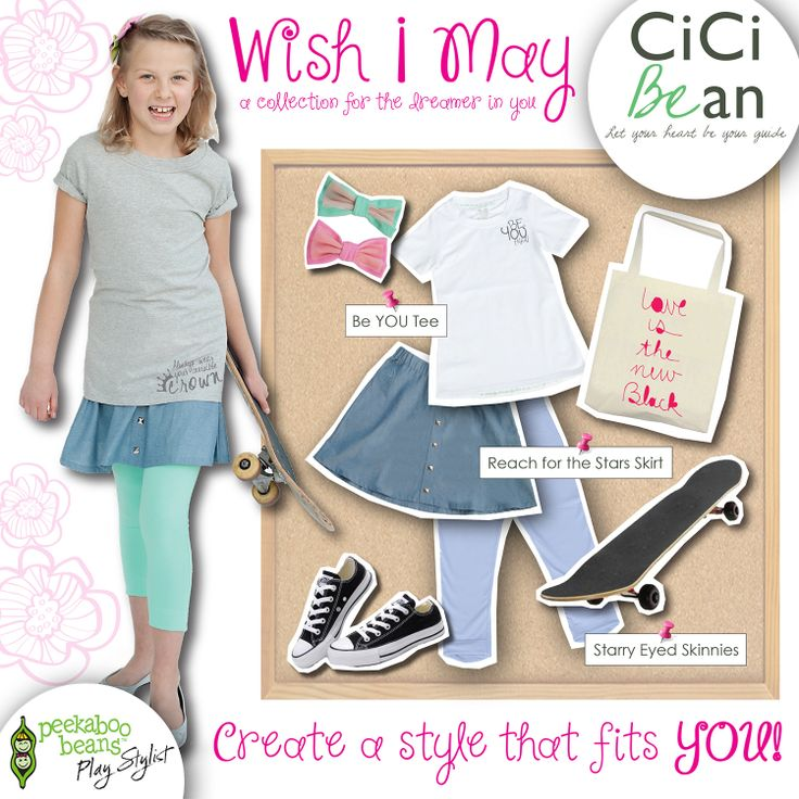 Skater CiCi style!   CiCi Bean - clothing for tween girls.    Shop On-Vine at www.peekaboobeans.com/nonaj
