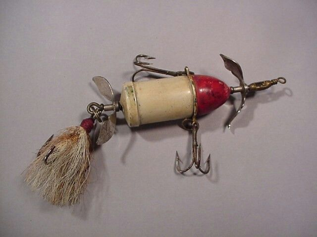 41 best red and white fishing lures images on pinterest for Antique fishing lures prices