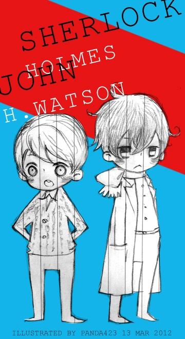 Sherlock fanart, sherlock and john~