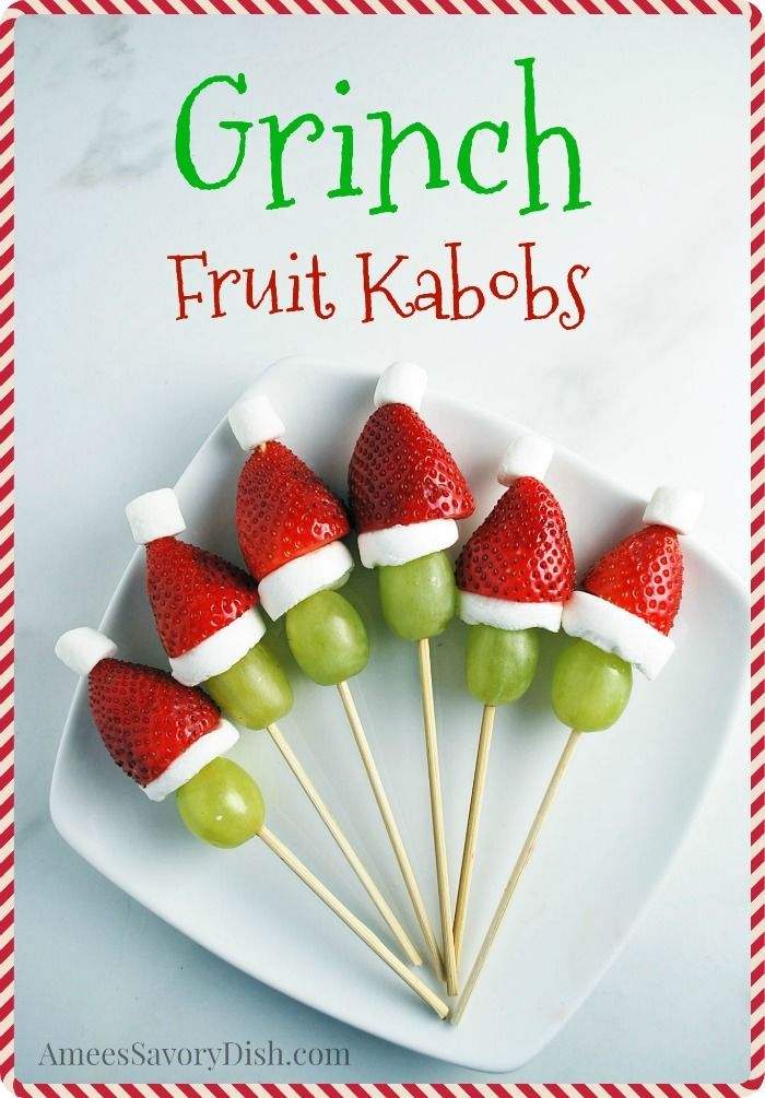 Grinch Kabobs recipe