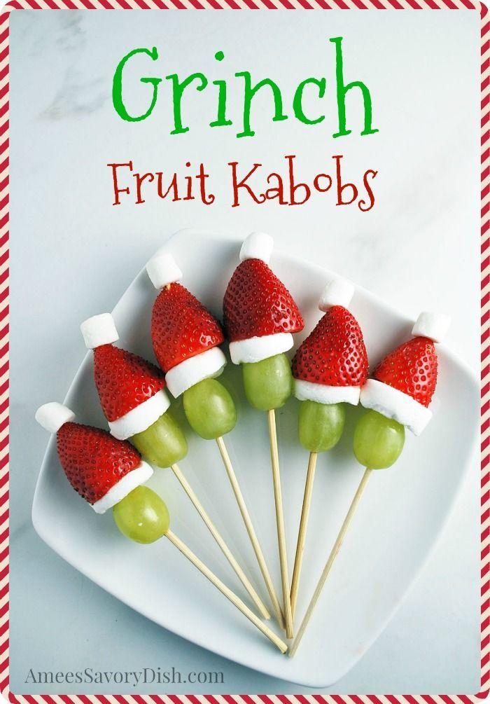 Grinch Kabobs recipe