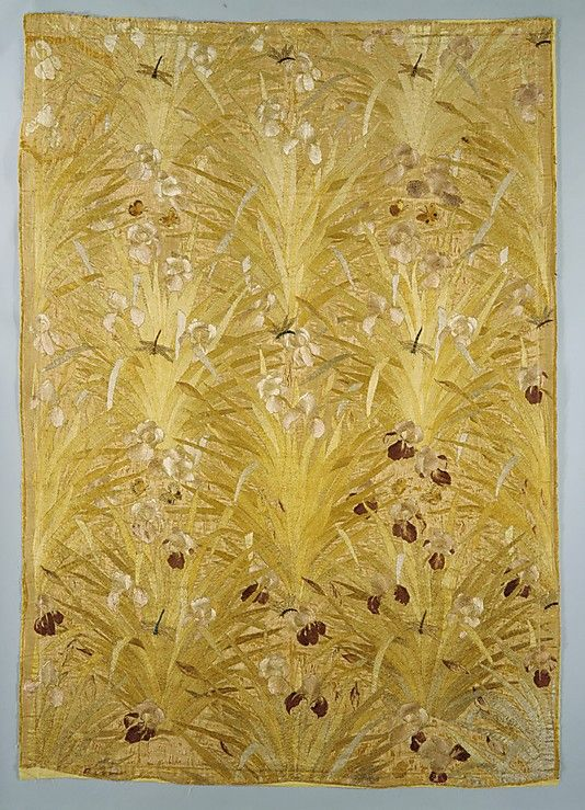 Candace Wheeler (American, 1827–1923). Irises panel, 1883. Associated Artists (1883–1907). Ground fabric by Cheney Brothers (American, 1838–1955). American. The Metropolitan Museum of Art, New York. Gift of the family of Mrs. Candace Wheeler, 1928 (28.34.1) #iris #flower