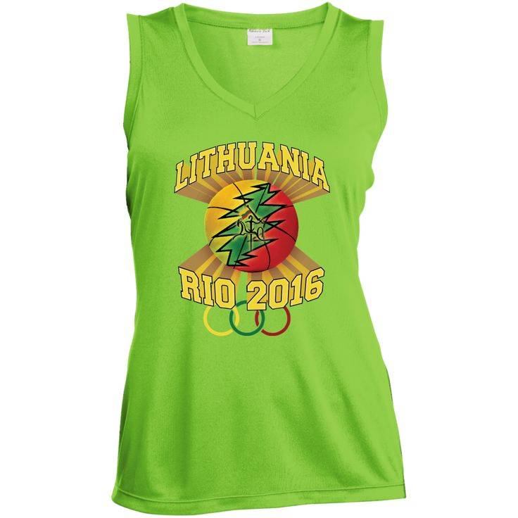 **Rio Olympic Basketball** -- Gals Performance Sleeveless V-Neck