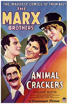 Animal Crackers. The Marx Brothers, Lillian Roth, Margaret Dumont. Directed by Victor Heerman. 1930