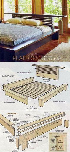 Platform Bed Plans - Furniture Plans and Projects   WoodArchivist.com