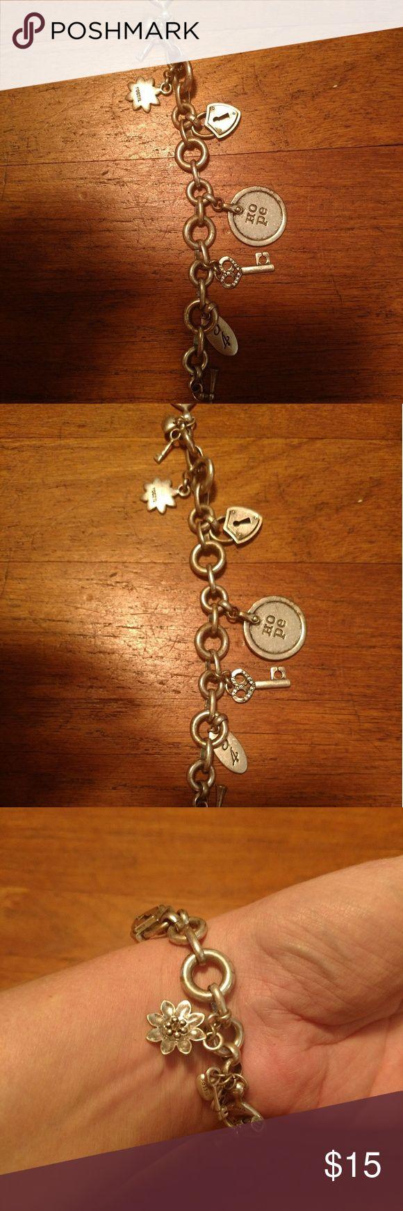 Fossil charm bracelet Fossil charm bracelet 💟 Final Price 💟 Fossil Jewelry Bracelets