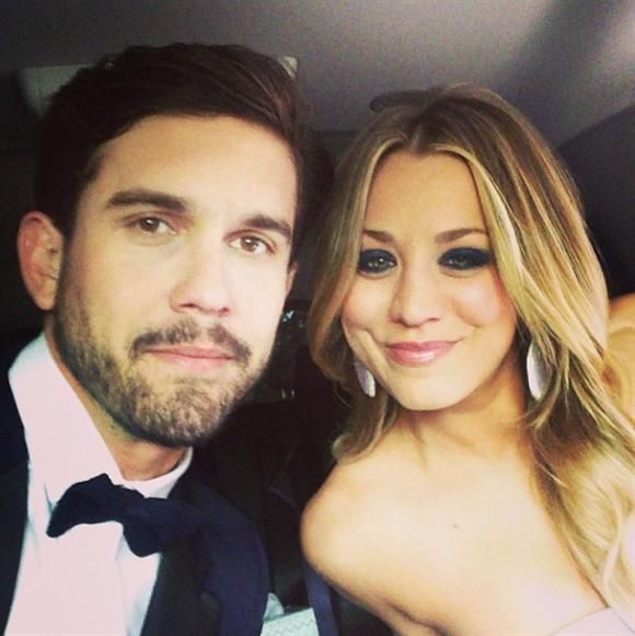 """""""My wifey sure looks stunning tonight. @Norman Cook#SAG"""" --Ryan Sweeting, who is so in love with """"Big Bang Theory"""" actress Kaley Cuoco"""