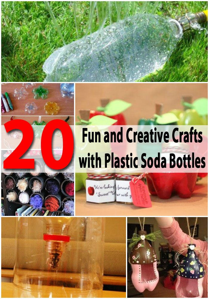 If any of these appeal  to us,  I have tons of bottles already.  I've  been saving them for another project,  but we can use them if want to.....  20 Fun and Creative Crafts with Plastic Soda Bottles
