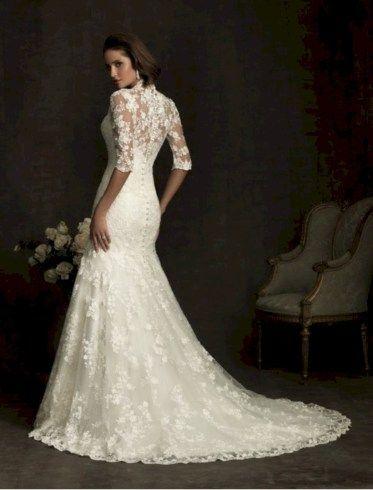 awesome 43 Vintage Winter Wedding Dress Ideas 2017  https://viscawedding.com/2017/11/24/43-vintage-winter-wedding-dress-ideas-2017/
