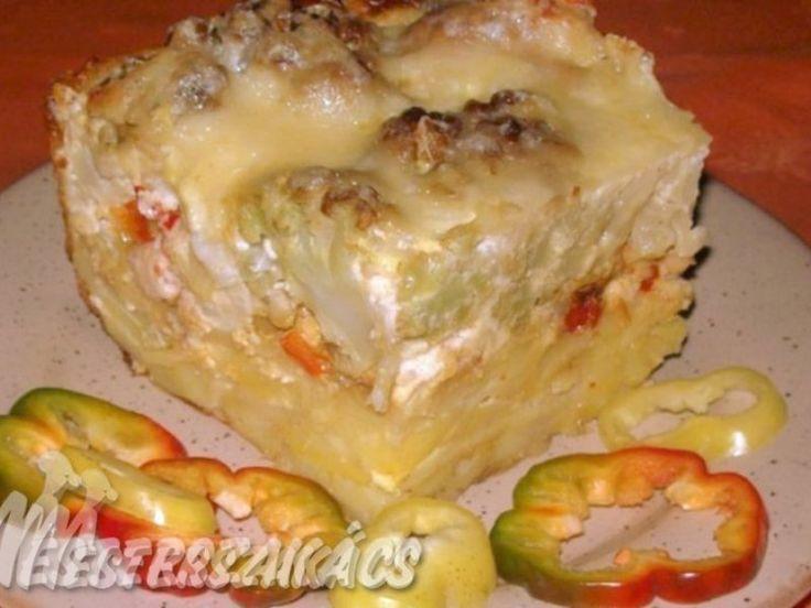 Burgonyás rakott karfiol recept