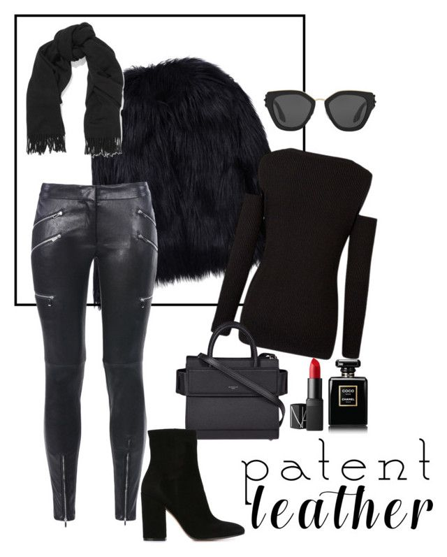 """""""Untitled #14"""" by maria-raniela on Polyvore featuring WithChic, Barbara Bui, Givenchy, Gianvito Rossi, NARS Cosmetics, Chanel, Acne Studios and Prada"""
