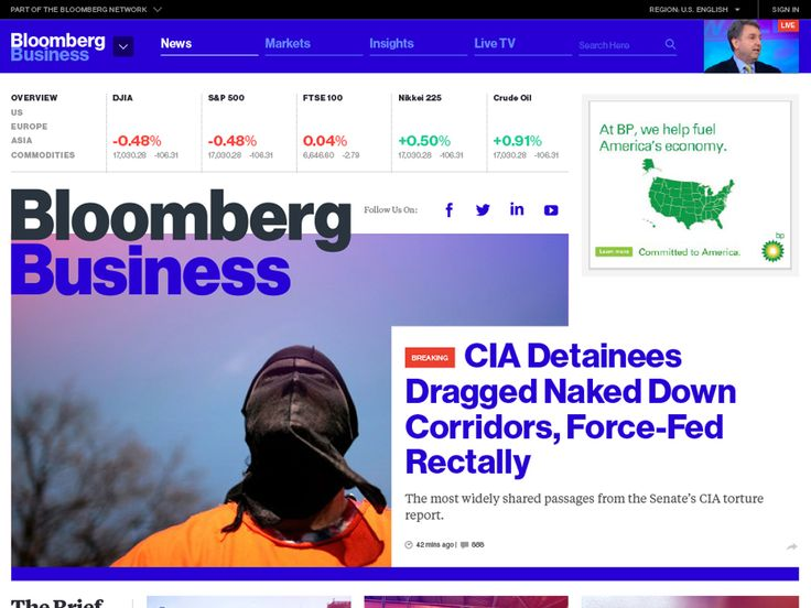 Bloomberg's Loud Redesign Heralds the Future of Web News