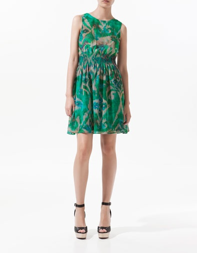 PRINTED DRESS WITH LACE SKIRT - Woman - New this week - ZARA Portugal