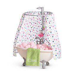 Bubble Bathtub Shower My American Girl Dolls Can Unwind With A