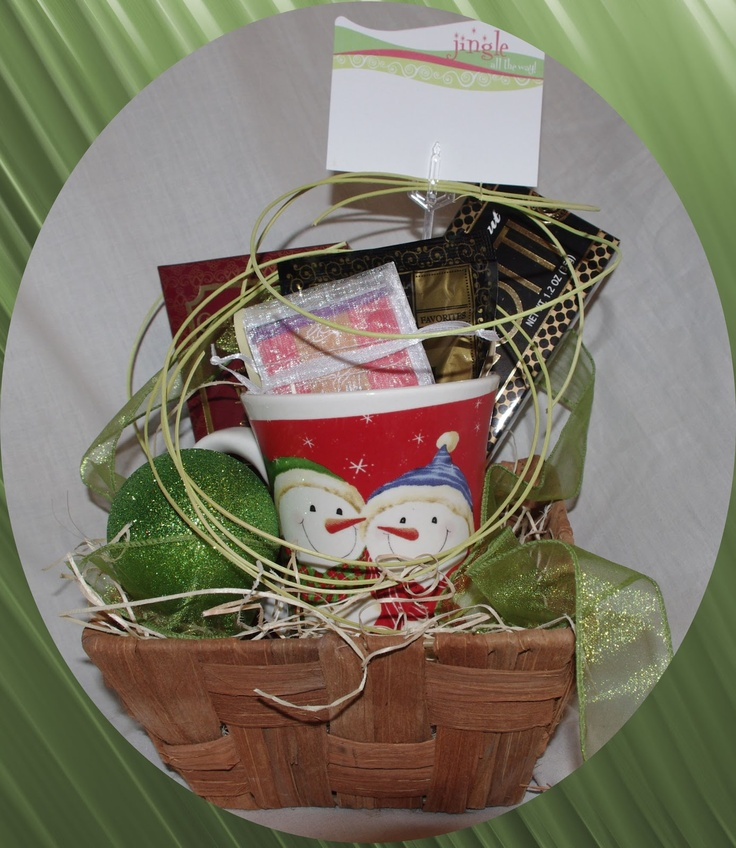 Snowman Mug Basket.         A cute snowman mug takes center stage in our ChristmasTea and Treats Basket.  CB007 $29.99