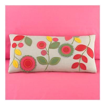 felt pillow Love these colors!