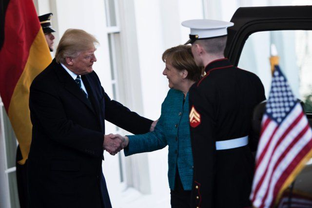 Fake news msm outfits said Trump refused to shake Merkel's hand. (3/18/17) They were too busy looking for more fake news to bring Trump down.