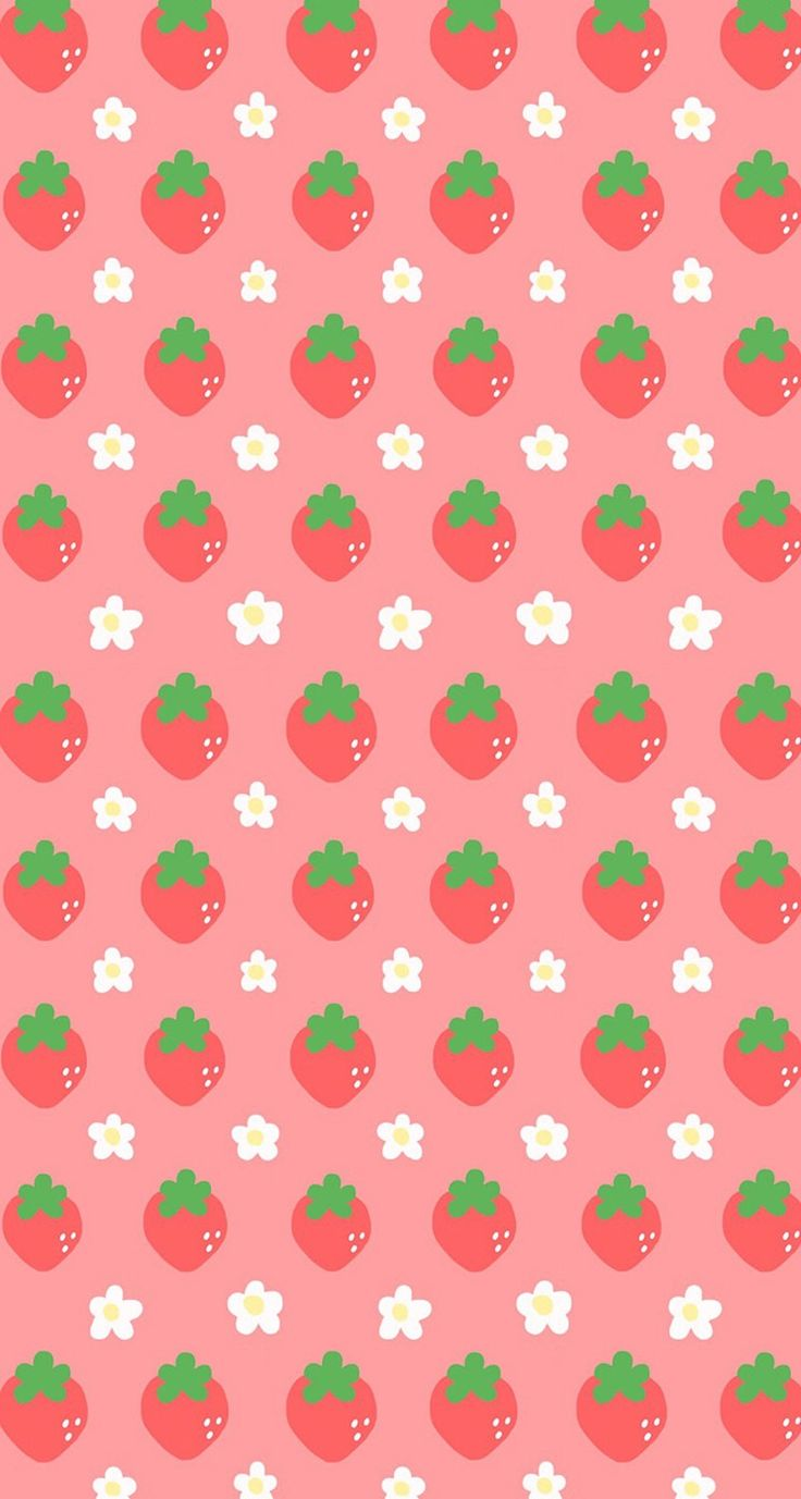 #pink #wallpaper #doodle #pattern #sweet #girly #cute #background #iphone #hd #strawberry
