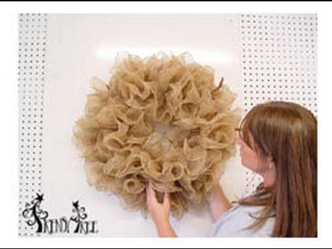 ▶ Basic Burlap Ruffle Wreath Tutorial by Trendy Tree - YouTube