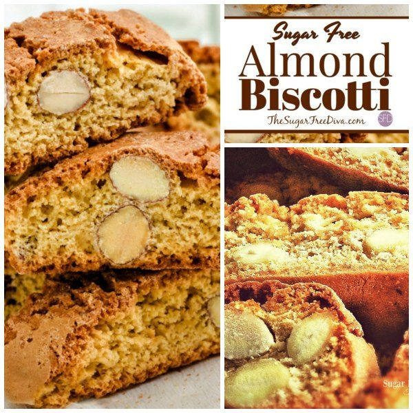 Enjoy this Delicious and Sugar Free Almond Biscotti Recipe with your favorite beverage whether or not you decide to dunk the cookie.