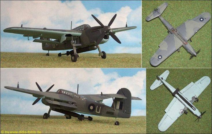 "Australien: Fairey ""Barracuda"" Mk.II, bordgestützter Torpedobomber (Frog 161) 1:72"
