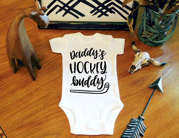 Baby Boy Clothes Daddy's Hockey Buddy Bodysuit New Baby