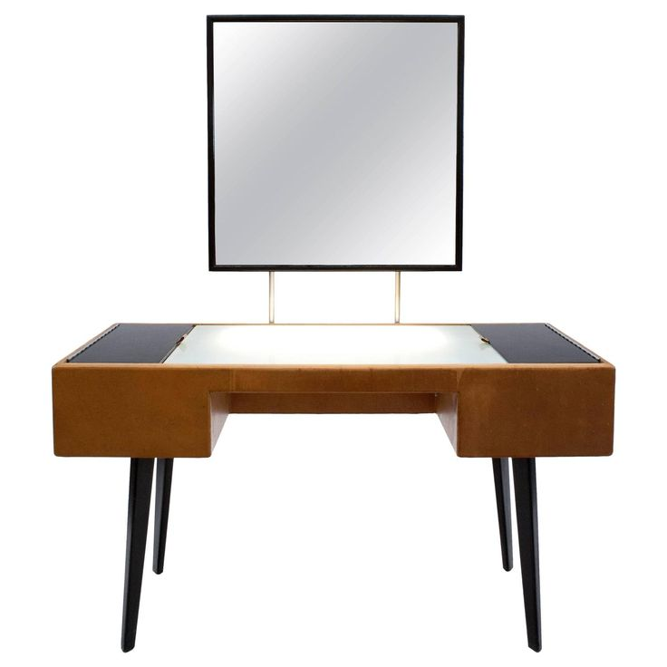 Rare George Nelson Illuminated Vanity Model With Mirror For Herman Miller.